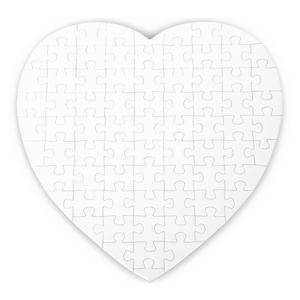 250er Pack Puzzle Herzform, 75 Teile, 190mm x 190m