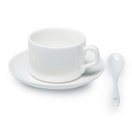 60er Karton Kaffee Set mit Löffel weiß, Grade A