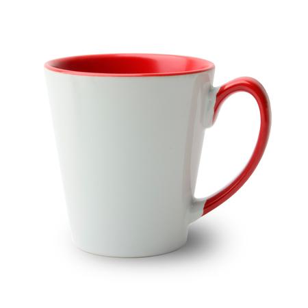 36 Mugs conique bicolres avec anse et intérieur rouge, qualité A