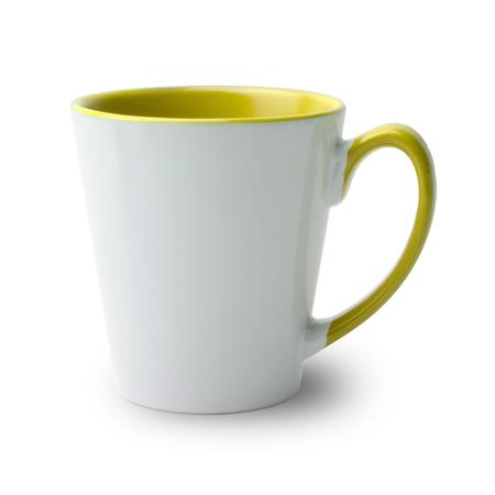36 Mugs conique bicolres avec anse et intérieur jaune, qualité A