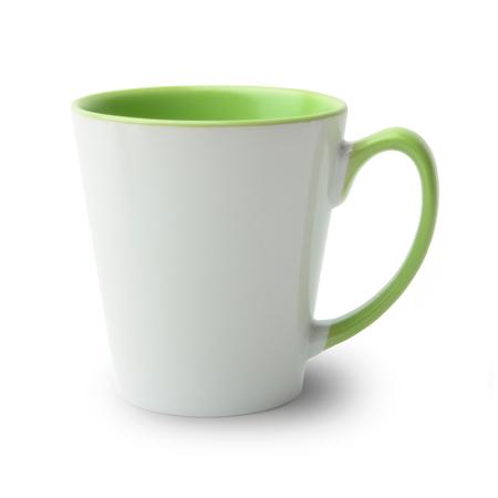 36 Mugs conique bicolres avec anse et intérieur vert clair, qualité A