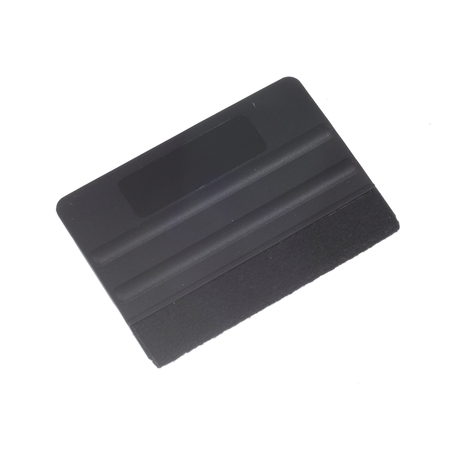 Plastic squeege with felt edge - PREMIUM