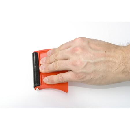 Paleta plástica con rodillo